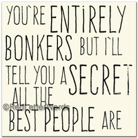 You're Entirely Bonkers - Cards