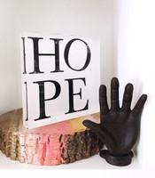 Hope - 6x6 Acrylic Block