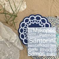 Greek Islands 12x12 Gray Cafe Mount *SALE*