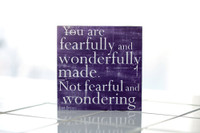 Lisa Bevere - Fearfully...Made - Eggplant 12x12 Cafe Mount *SALE*