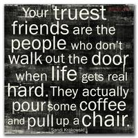 Sandi Krakowski - Your Truest Friends 12x12 Black Cafe Mount *SALE*