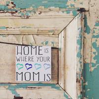 Home Mom - Blue Hearts 5x5 Cafe Mount *SALE*