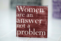 Lisa Bevere - Woman are an answer - 5x5 Burgundy Cafe Mount *SALE*