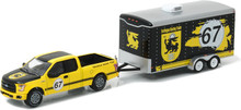 1:64 Hitch & Tow Series 9 - 2015 Ford F-150 and Terlingua Racing Trailer