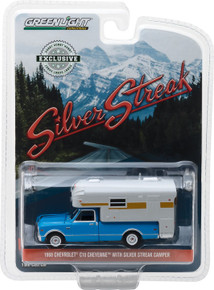 1:64 1968 Chevy C10 Cheyenne with Silver Streak Camper (Hobby Exclusive)