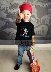 Boys Rock Tattoo Sleeve T Shirt