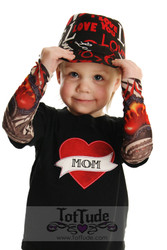 Mom heart tattoo sleeve shirt