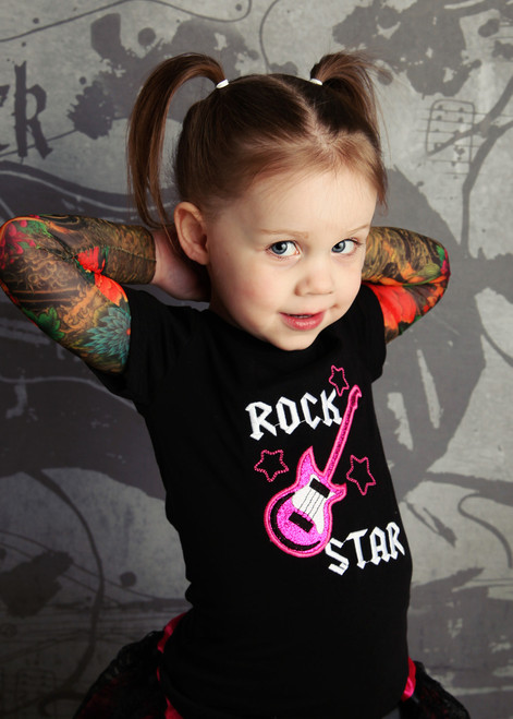 Rock star girls tattoo tee