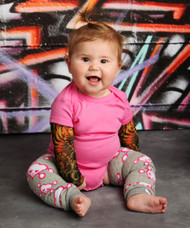 Girls Skull Baby Leg Warmers