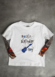 Rockin Birthday Boy Tattoo Sleeve Shirt
