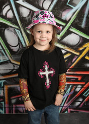 Cross and Angel Wings Tattoo Sleeve Shirt