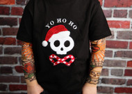 Yo Ho Ho Pirate Santa Christmas Tattoo Shirt