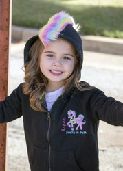 Rainbow Mohawk Hoodie- Pretty in Punk embroidered