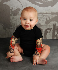 Tribal tiger tattoo bodysuit