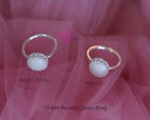 Bright white  Natural  10mm Round ring
