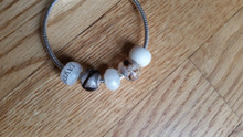 Large Hole Bead Style 2  Breast milk center With Text On it