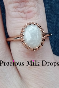 Crown Queen Ring 8x10 mm Oval (silver and Gold)