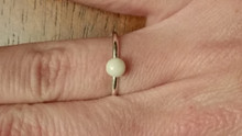 Breast Milk Stone Ring 4mm Round