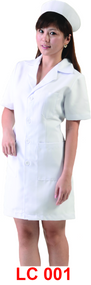 Female Lab Coat Short Sleeve