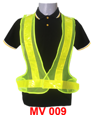 Safety Vest V Neck (Netting) Lime Green + Lime Green