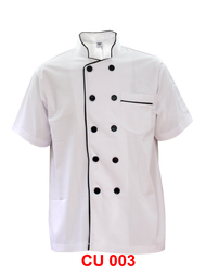 Chef Jacket White With Black Piping Normal Cutting