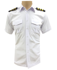 Ready Stock Pilot Shirt White (Shirt Only)