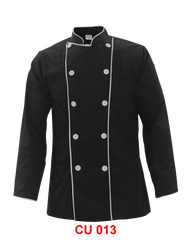 Black Jacket With White Piping ( Normal Cutting )