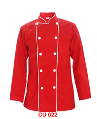 Red Jacket With White Piping 2 Lines( Young Cutting )
