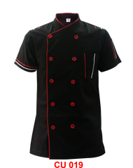 Black Jacket With Red White Piping ( Young Cutting )