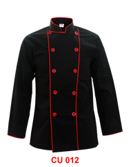 Black Jacket With Red Piping 2 Lines ( Young Cutting  )