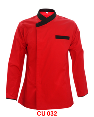 Red Jacket With Black Piping ( Young Cutting  )