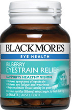 Blackmores Bilberry Eyestrain Relief - 30 Tablets