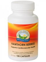 Natures Sunshine Hawthorn Berries - 100 Capsules