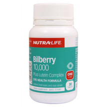 NutraLife Bilberry 10,000 Plus Lutein Complex - Tablets