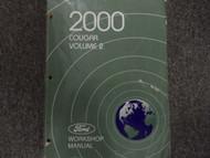 2000 MERCURY COUGAR Service Shop Repair Manual VOLUME 2 FACTORY OEM BOOK USED