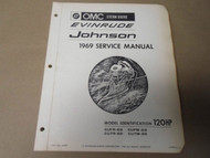 1969 OMC Stern Drive Evinrude Johnson Service Shop Manual 120 HP OEM BoatNEW