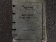 1961 Triumph Tiger Cub Replactment Parts Catalog No. 7 Manual FACTORY OEM BOOK