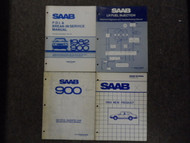 1980s Saab Fuel Injection Electrical Diagnosis Emissions Shop Manual 4 VOL SET