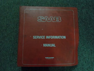 1981 82 83 1984 Saab 99 900 Service Information Supplement Shop Manual OEM DEAL