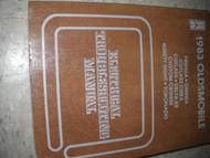 1983 Olds Cutlass Ciera & Toronado Electrical Troubleshooting Service Manual OEM