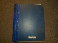 1986 87 1989 Saab 9000 Interior Equipment Body 4 Door Service Repair Manual OEM