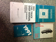 1991 Lincoln Continental Service Shop Manual Set W EVTM SPECS + EMISSIONS BOOK