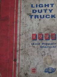 1994 Chevy LIGHT DUTY TRUCK MODELS Unit Service Repair Shop Manual FACTORY OEM