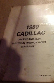 1980 Cadillac All Models CHASSIS & BODY Electrical Wiring Circuit Diagram Manual