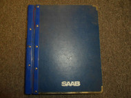1984 1988 Saab 900 Electrical System Instruments Wiring Diagram Service Manual