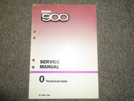 1981 83 86 1988 SAAB 900 0 Technical Data Service Repair Manual FACTORY OEM 88