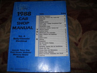 1988 FORD CROWN VICTORIA Service Repair Shop Manual OEM FACTORY DEALERSHIP BOOK