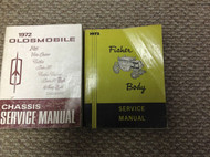 1972 Oldsmobile F85 CUTLASS 442 VISTA DELTA TORNADO 88 Service Shop Manual SET x