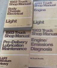 1983 Ford F-150 F100 250 350 Bronco Truck Service Shop Repair Manual Set 4 BOOKS