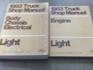 1983 Ford F-150 F100 250 350 Bronco Truck Service Shop Repair Manual Set FACTORY